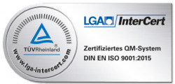 LGA Intercert zertifiziert DIN EN ISO 9001:2015